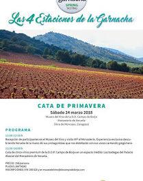 """VERUELA. Cata de vino """"Las cuatro estaciones de la garnacha"""" (sábado, 24)"""