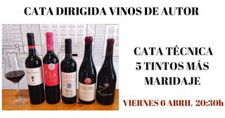 Cata de vinos de autor (viernes, 6)
