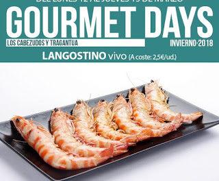 Gourmets Days en LOS CABEZUDOS y TRAGANTÚA con langostino vivo (del 12 al 15 de marzo)