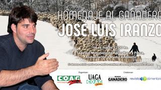 MADRID. Homenaje al ganadero José Luis Iranzo (miércoles, 14)