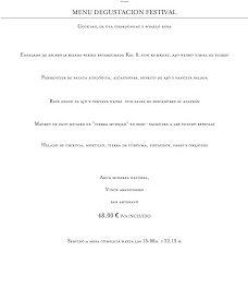 Nuevo menú degustación Festival en ARAGONIA PALAFOX, por 48 euros (hasta finales de primavera)