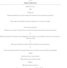 Nuevo menú Esencia en ARAGONIA PALAFOX, por 32 euros (hasta finales de primavera)
