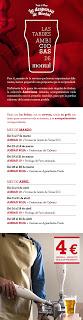Cerveza Ámbar y tapa (de lunes a miércoles de abril)