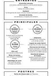 Nuevos menús a 10, 15 y 20 euros en ALBARRACÍN y +ALBARRACÍN (del 19 al 25 de marzo)
