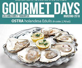 Gourmets Days en LOS CABEZUDOS y TRAGANTÚA con ostra holandesa (del 5 al 8 de marzo)