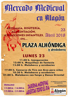 ALAGÓN. Mercado medieval (lunes, 23)