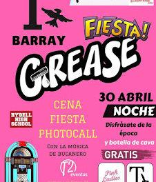 Fiesta Grease con cena (lunes, 30)