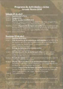 CALACEITE. XXXI Feria del Olivo y el Aceite (sábado y domingo, 21 y 22)