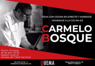 Cena homenaje al cocinero Carmelo Bosque (jueves, 26)