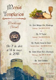 MAESTRAZGO. Menús templarios (hasta 31 de mayo)