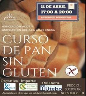 UTEBO. Taller de pan sin gluten (miércoles, 11)