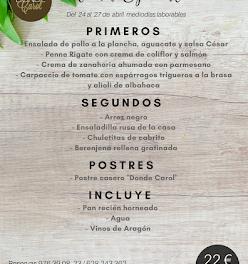 Nuevo menú semanal en DONDE CAROL, por 22 euros (del martes, 24, al viernes, 27)