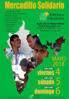 Mercadillo Solidario de Estrella de la Mañana (del 4 al 6)