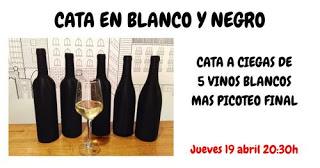 Cata a ciegas de vinos blancos (jueves, 19)