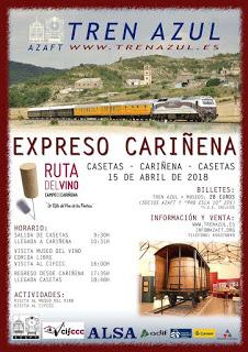 Tren azul a Cariñena (domingo, 15)