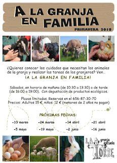A la granja en familia (sábado, 14)