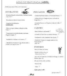 Menú de temporada en EL FORO (abril)