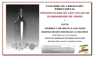 CALATAYUD. Presentación de ciclos de vino y cata (viernes, 4)
