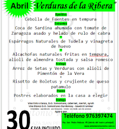 """Jornadas """"Verduras de la Ribera"""" (abril)"""