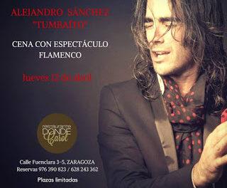 Cena con espectáculo flamenco en DONDE CAROL (jueves, 12)