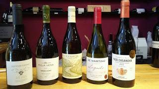 Cata de vinos blancos (jueves, 26)
