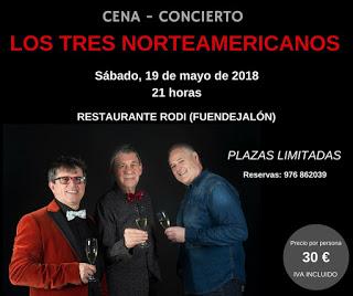 FUENDEJALÓN. Cena concierto en el restaurante RODI (sábado, 19)