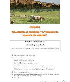 BOLTAÑA. Jornada Las soluciones a la Ganadería y el Turismo en la Comarca de Sobrarbe (jueves, 24)