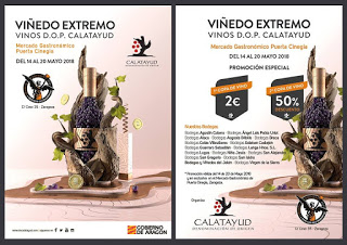Degustación de vinos de Calatayud (del 14 al 20 de mayo)