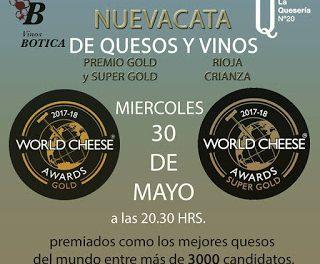 Cata de quesos y vinos (miércoles, 30)