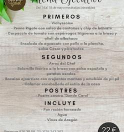 Nuevo menú semanal en DONDE CAROL, por 22 euros (del lunes, 14 al viernes, 18)