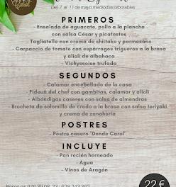 Nuevo menú semanal en DONDE CAROL, por 22 euros (del lunes, 7 al viernes, 11)