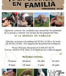 A la granja en familia (sábado, 19)