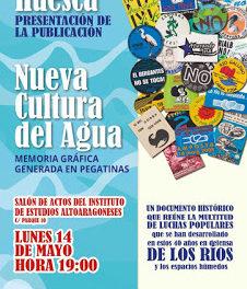 HUESCA. Presentación de la publicación Nueva cultura del agua: Memoria gráfica generada en pegatinas (lunes, 14)