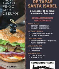 Concurso de tapas en Santa Isabel (del sábado, 26, al domingo, 3 de junio)