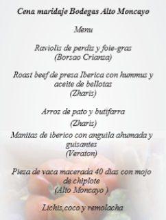 Cena maridada con vinos de Bodegas Alto Moncayo (jueves, 24)