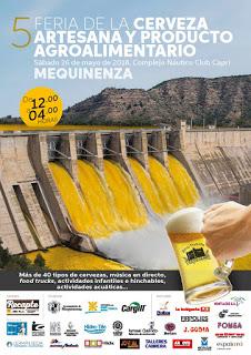 MEQUINENZA. V Feria de la Cerveza Artesana y Producto Agroalimentario de Mequinenza (sábado, 26)