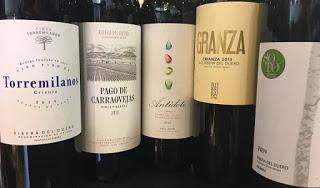 Cata a ciegas de vinos de Ribera del Duero (jueves, 24)