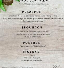 Nuevo menú semanal en DONDE CAROL, por 22 euros (del lunes, 11, al viernes, 15)