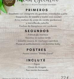Nuevo menú semanal en DONDE CAROL, por 22 euros (del lunes, 17, al viernes, 22)