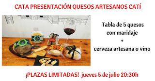 Cata de quesos artesanos (jueves, 5)