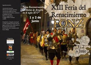 FONZ. Feria del Renacimiento, mercadillo (sábado, 2)