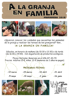 A la granja en familia (sábado, 16)