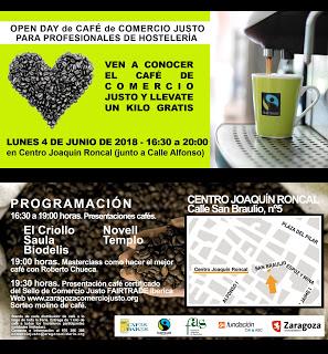 Open Day de café de comercio justo (lunes, 4)