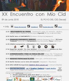 EL POYO DEL CID. Encuentros con el Mío Cid (sábado, 9)