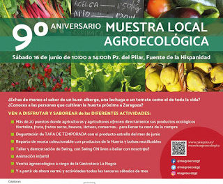 IX Aniversario del Mercado agroecológico con gastroneta (sábado, 16)