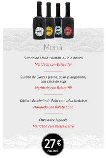Cena maridada Japón y cerveza (miércoles, 6)e