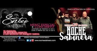 Menú especial y concierto con música de Sabina (viernes, 29)