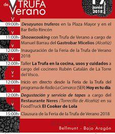 BELMONTE DE SAN JOSÉ. Feria de la trufa de verano (domingo, 17)