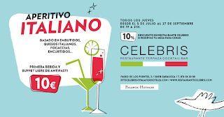 Aperitivo italiano en el CELEBRIS (jueves, hasta el 27 de septiembre)