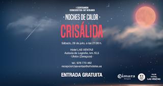 UTEBO. Noches de calor. Concierto en la terraza del hotel Las Ventas (sábado, 28)